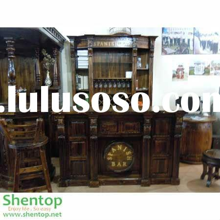 Outdoor Bar Furniture Solid Wooden Middle Bar Counter