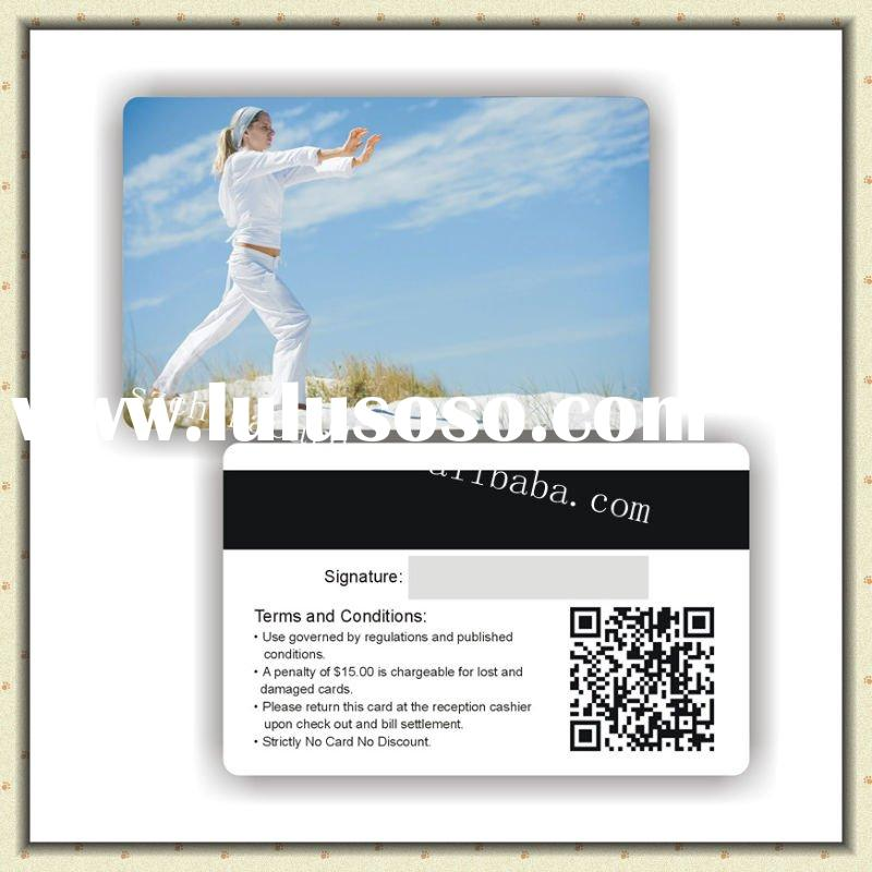 PVC magnetic strip card with QR code