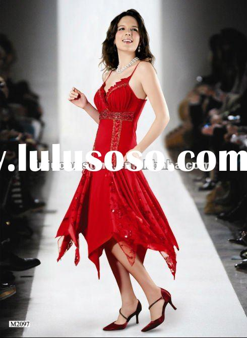 Red Sequin Cheap Prom Dresses Guangzhou