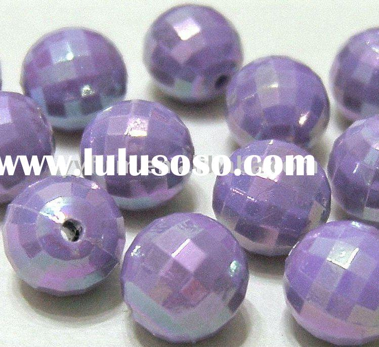 Round Shape Acrylic Faceted Disco Ball Beads!! Mixed AB colors!! !!