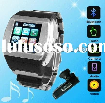 Smart Quad-band GSM Multimedia Cell Phone Watch with Samsung TFT Touch Screen