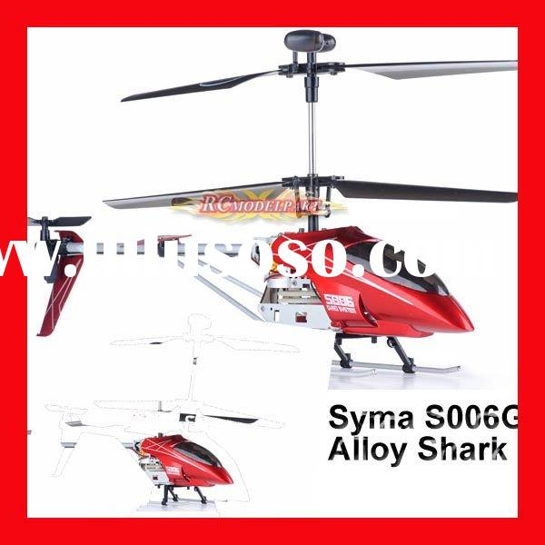 Syma S006G Alloy Shark RC Remote Control Metal Frame Helicopter w/ Gyroscope