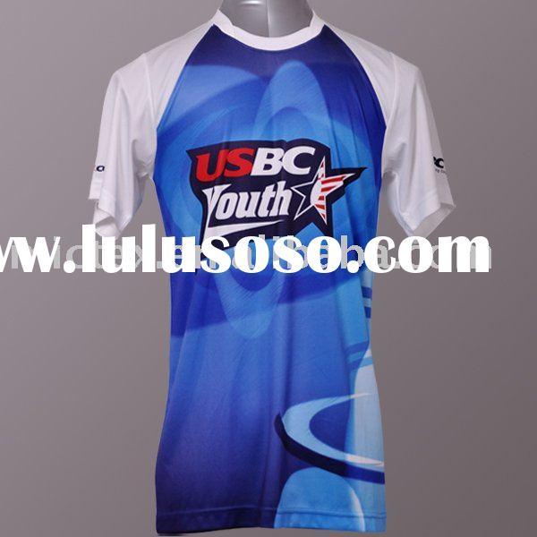 T-shirt 100% polyester quick drying and moisture wicking finished sublimation print