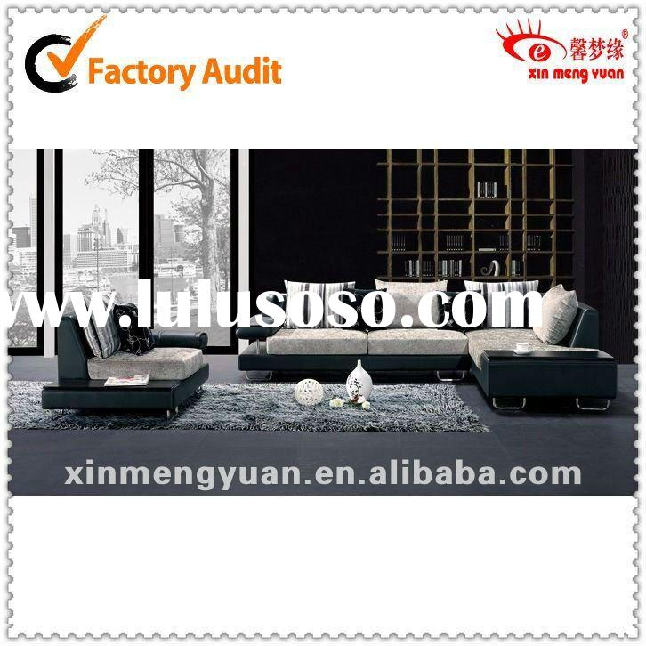 The Most Comfortable High-grade half fabric half leather sofa/Living room set