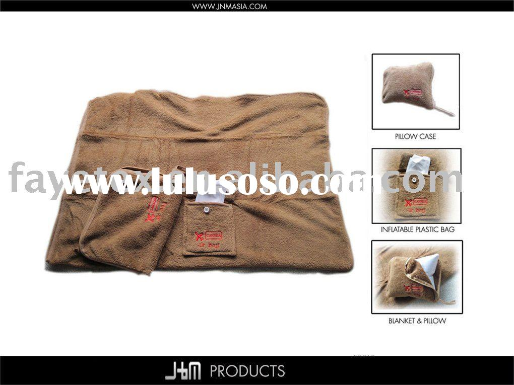 Travel Fleece Pillow and Throw 3 in 1 set