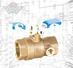 WD-1103 Full Port Bronze Ball Valve with Drain