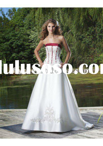 WD-190 wedding gown sample pictures 2012 New Design