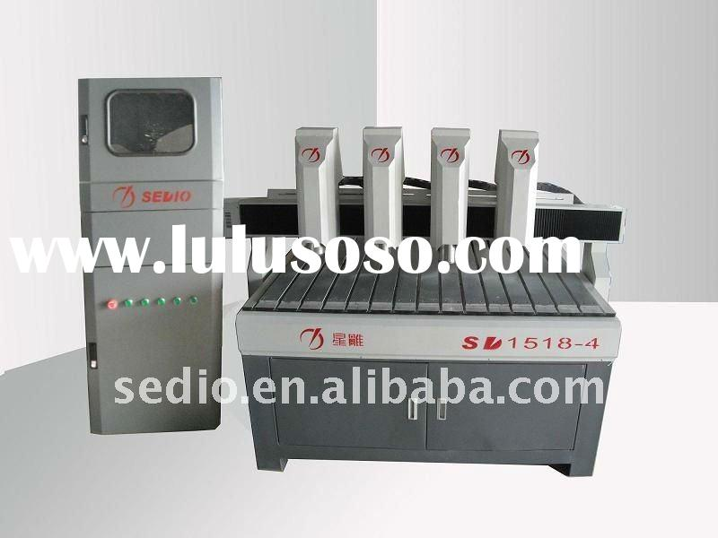 Wood engraving machine and cutting machine for wood artcraft products wood furniture industry