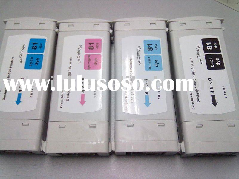 <HOT> Ink Cartridge HP #81 Compatible for HP Designjet 5000/5500