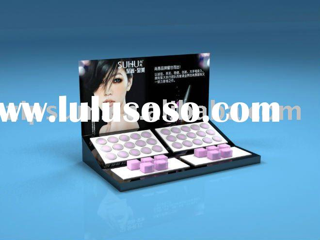 acrylic counter cosmetic eyeshadow display