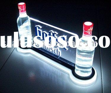 acrylic wine display led wine display bottle glorifier wine holder beer glorifier