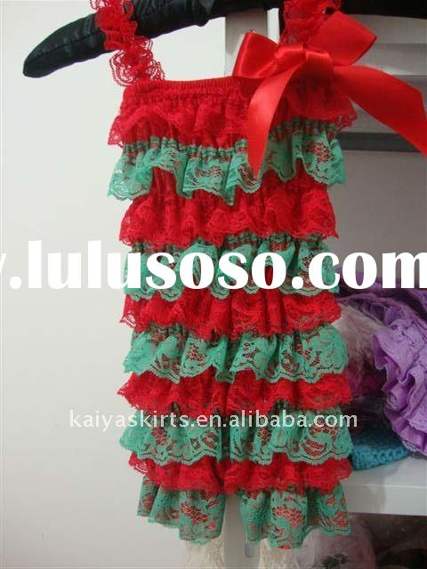 baby posh petti lace romper for christmas design