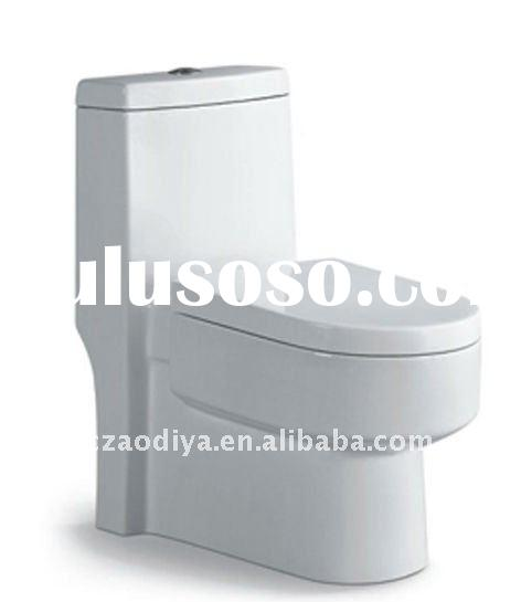 ceramic one piece toilet with siphonic washing system