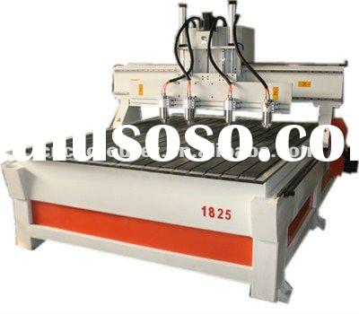 four heads three axises CNC wood MDF relief onlay engraving/carving machine HSD spindle CX-1825