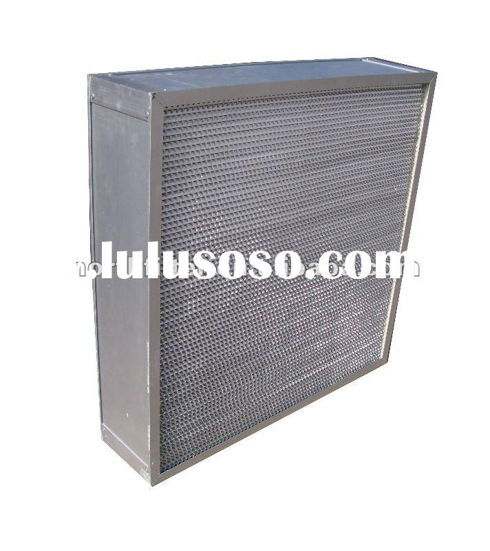 hepa filter 610*610*150mm H14 aluminum frame glass fiber media,paper separator high efficency air he