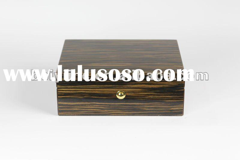 high gloss piano finished wooden jewellery box