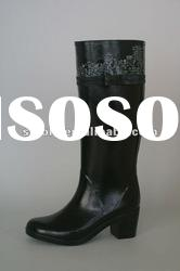 high heel rubber boots for cool lady