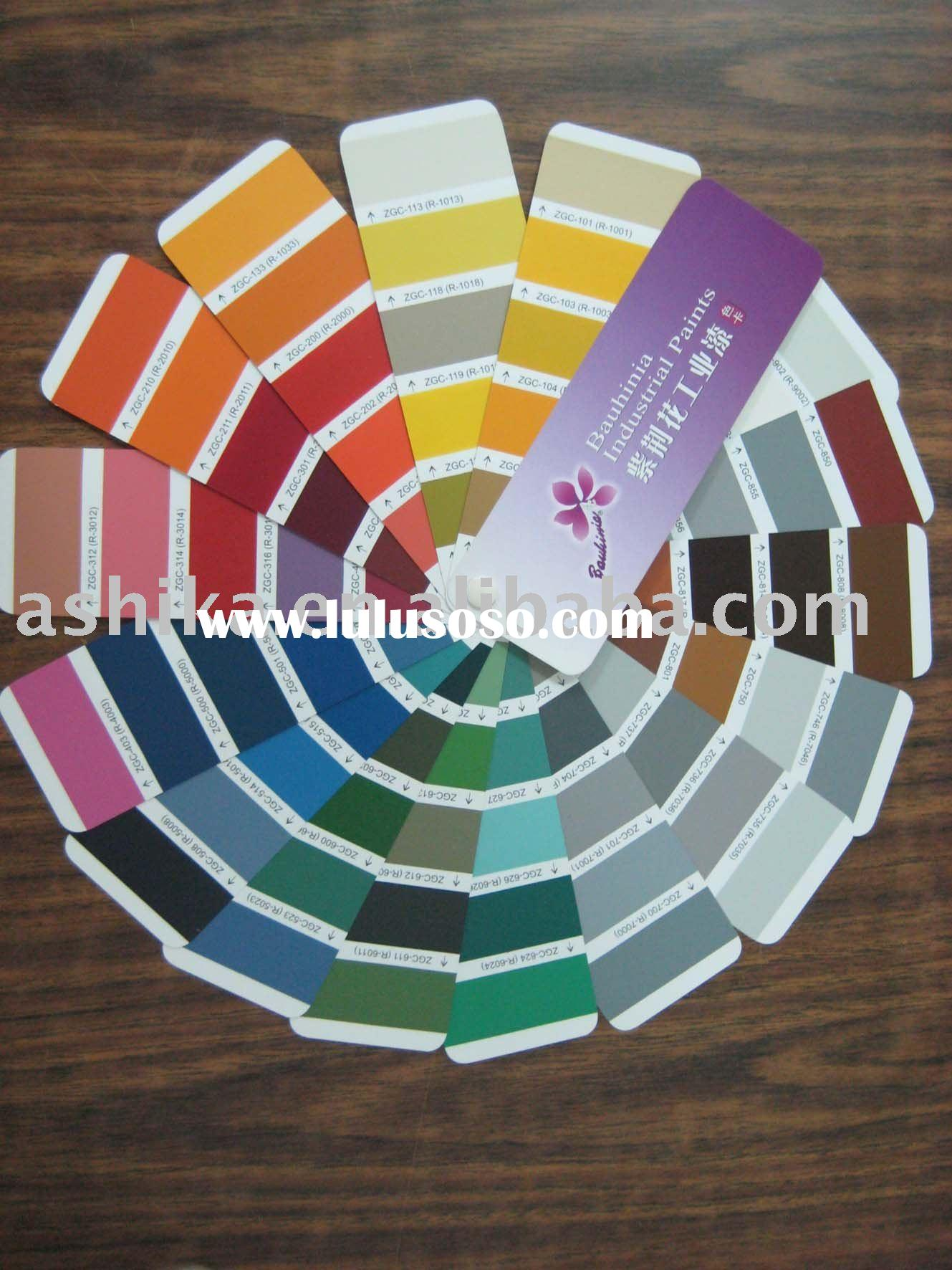 industrial paints color card