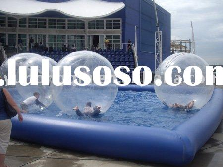 inflatable pool and water ball