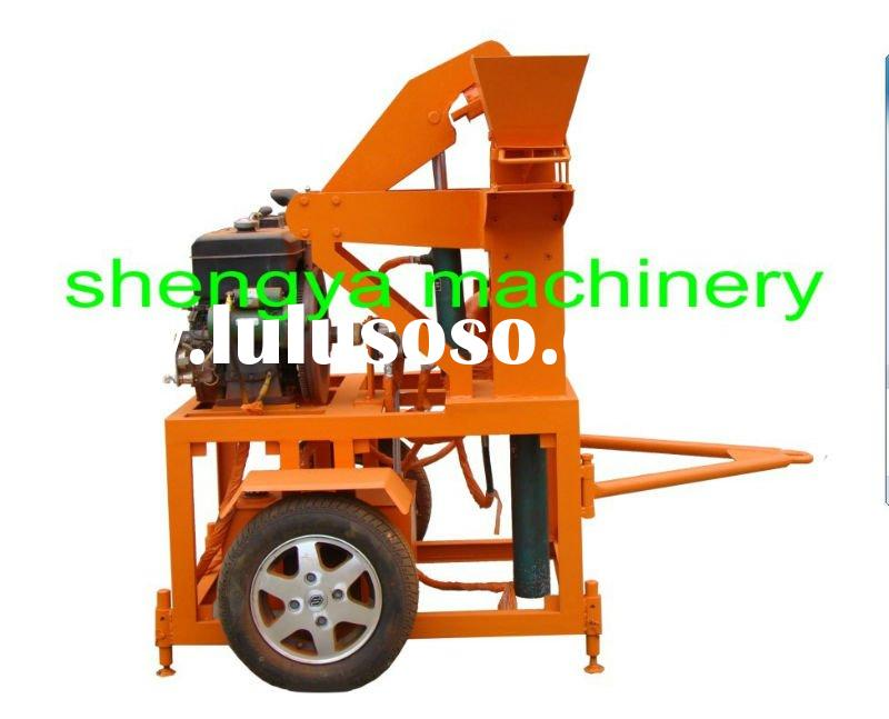 interlock soil block making machines, clay brick machine with tires SY1-20A