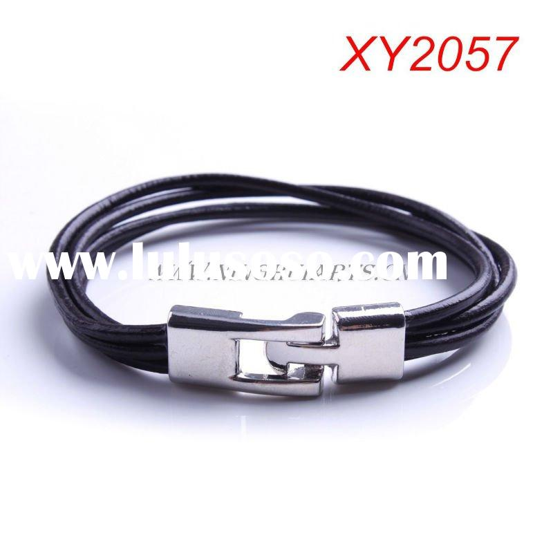 Leather Bracelets http://www.lulusoso.com/products/Leather-Bracelets-For-Men-Emo.html