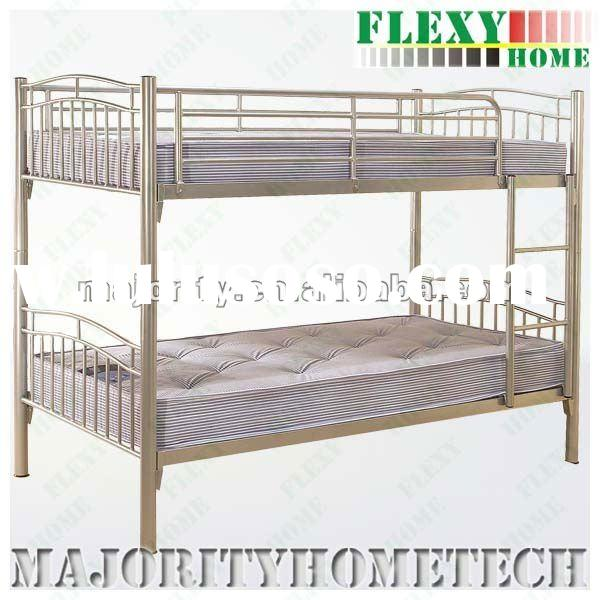metal bunk bed (steel bunk bed (Rubberwood Post available) -- SUITABLE FOR SCHOOL BUNK BED HOTEL BUN