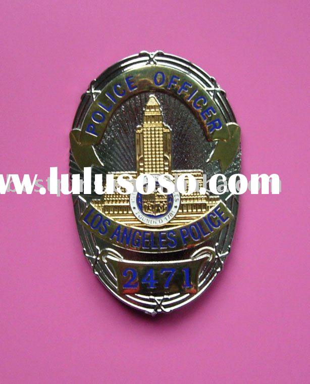 metal zinc alloy custom soft enamel police badge/button badge/pin badge
