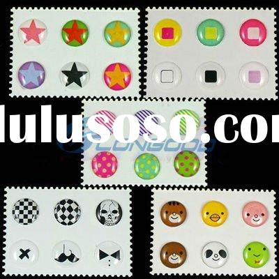 new fashion design button sticker for iPhone/ipad/ipod touch