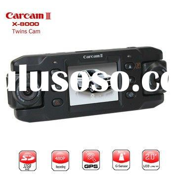 new style car black box,car DVR with double camera ,black body,mini apperance