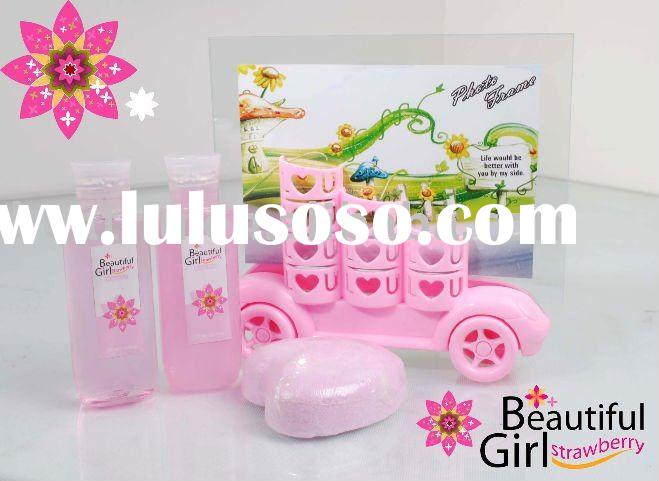 pretty teenage liquid bath soap set/girl shower gel/ girl bubble bath