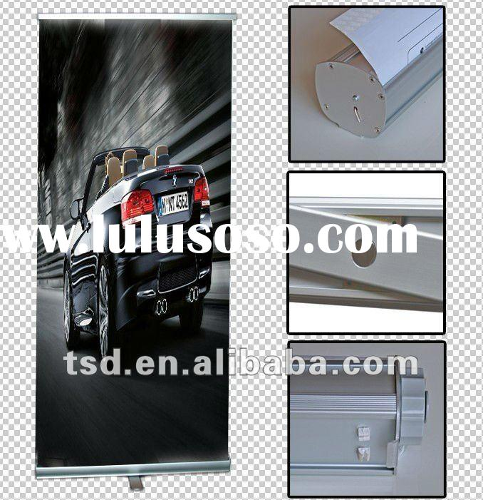 roll up banner/car show banner stand/roll up standee