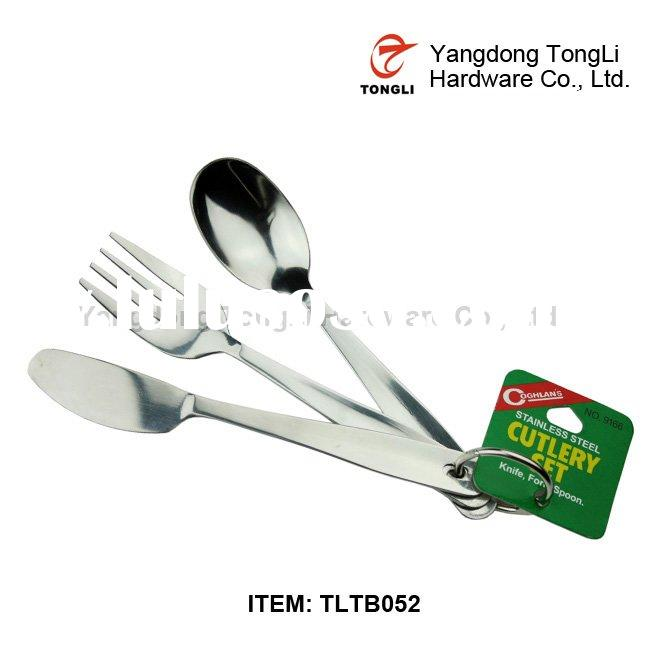 stainless steel travel cutlery set, fork and spoon travel set TLTB052