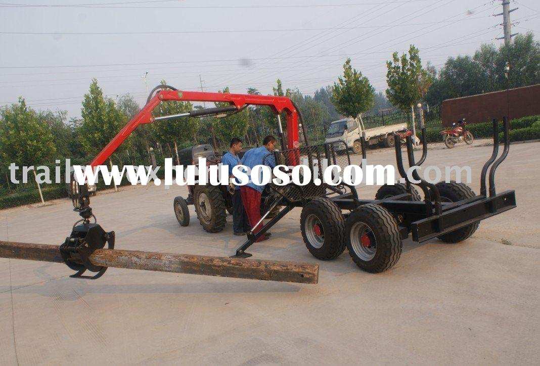 timber logs log loading trailer log trailer timber farm trailer