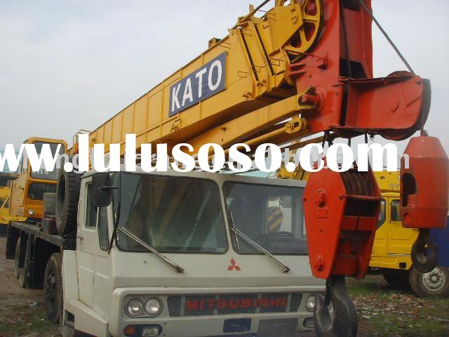 used truck crane Japan original Kato mobile construction machine 40ton NK400E in good working condit