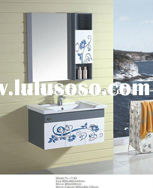 wall hanging bathroom cabinet with ceramic basin TL-7133