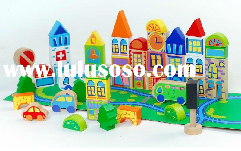 wooden block & wooden toys for children