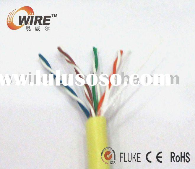 0.5 mm CCA cat5e UTP cable lan ethernet 130-150m work distance