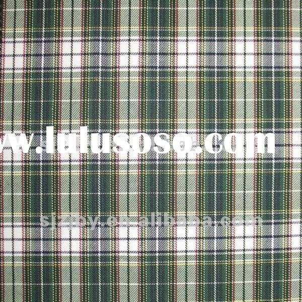 100 cotton check yarn dyed shirt fabric