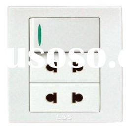 10A 250V, Twin 2 Pin Universal Switched Socket Outlet/Electrical Socket/Wall Socket