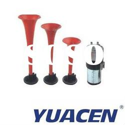 12 Volts high and low tone Three-tone Chrome plastic cicada air horn kit with compressor and bracket