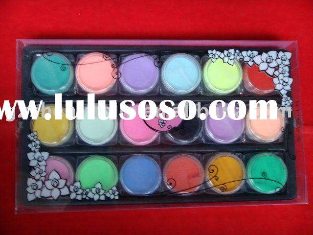18 Colourful Nail Art Acrylic Powder For Nails Makeup