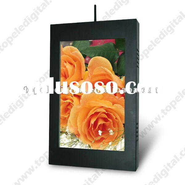 19 inch waterproof high brightness lcd advertising outdoor screen,digital display for parking place/