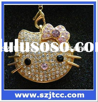 1GB-16GB Shiny Hello Kitty Jewelry USB Flash Memory, Wholesale Hello Kitty USB Stick