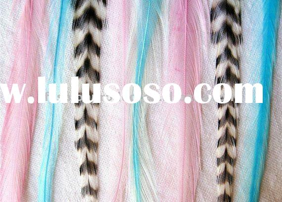 2011 new design hot sale fashion lady's Feather Hair Extension