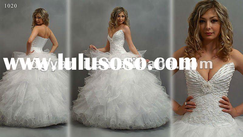 2012 Best Selling Gorgeous Off-Shoulder Ball Gown Wedding Gown 00673
