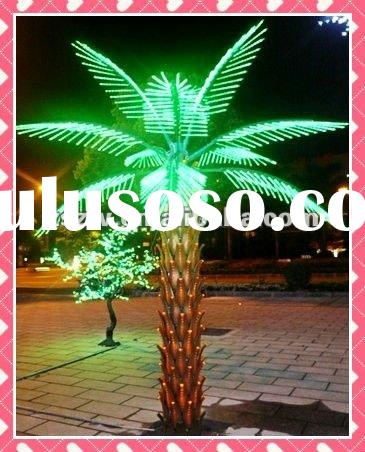 2012 decorative lighted trees and flowers