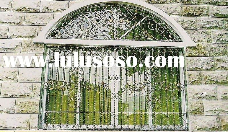 2012 new graceful wrought iron window grill design