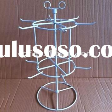 2 Tier Counter Top Wire Jewelry Display Rack with Sign Holder