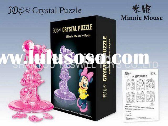 3D crystal puzzle Minnie Mouse, educational toys,DIY puzzle toys