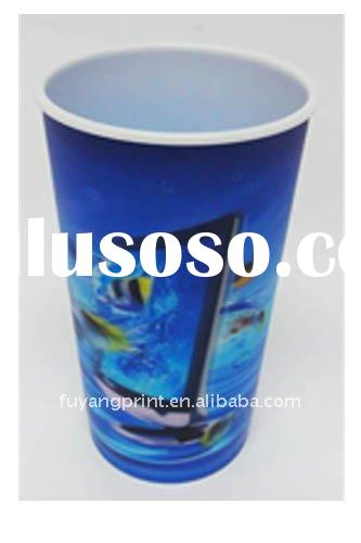 3d cup with lid and straw